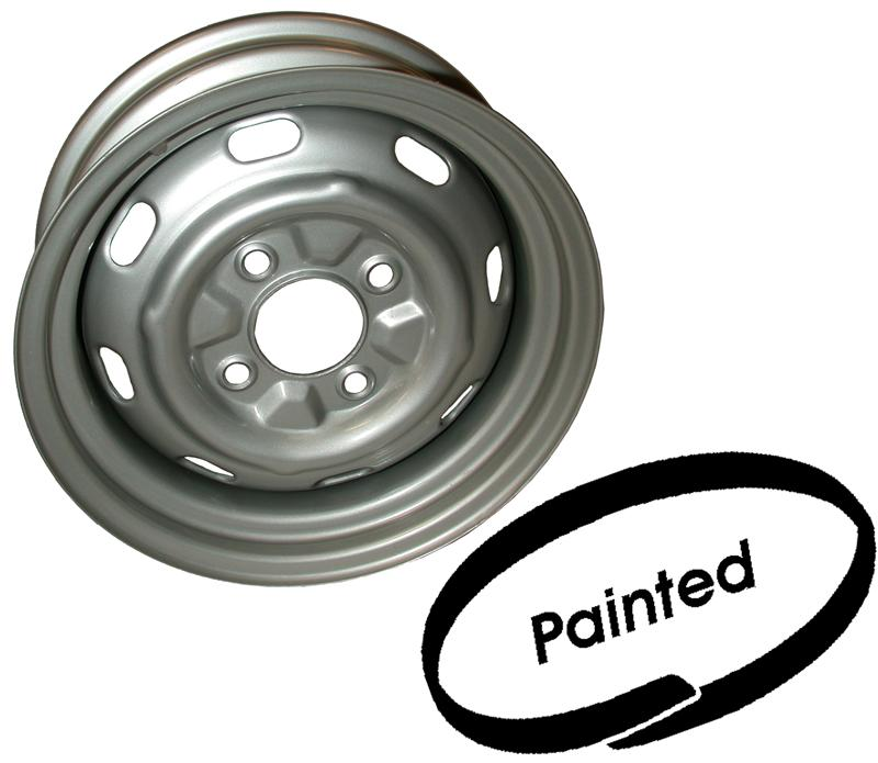 "MM302242 - Painted steel wheel, 5.5x15"", 4 holes, ET25"